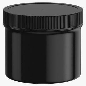 3D plastic jar wide mouth model
