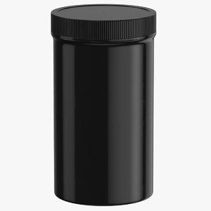 3D model plastic jar wide mouth