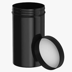 plastic jar wide mouth 3D model