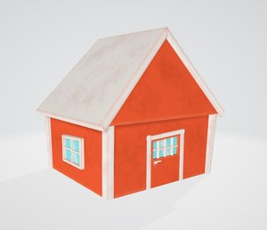 3D house autumn model