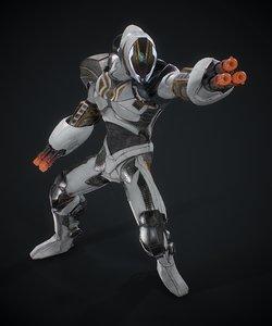 3D model sci-fi robot