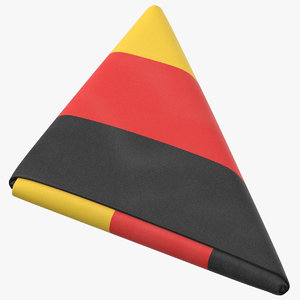 flag folded triangle germany 3D model