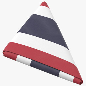 flag folded triangle thailand model