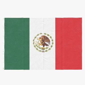 flag laying pose mexico 3D