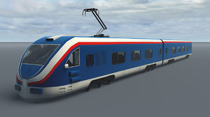 3D fast train model