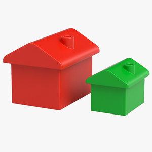 3D monopoly house model