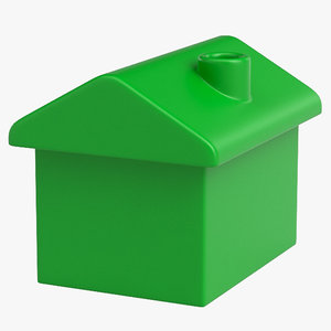 monopoly house 3D