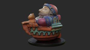 3D ceramic boat model