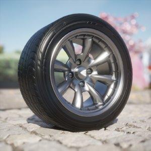 3D enkei compe tires wheel model