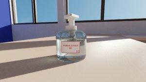 hydroalcoholic dispenser gel 3D model