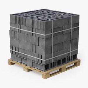 pallet blocks v2 3D model