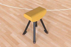 3D vaulting gymnastics sport
