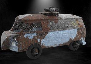 3D model zombie apocalypse
