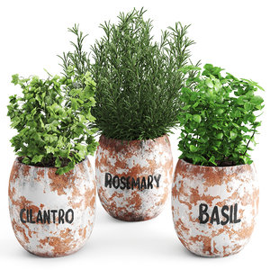 greenery plants set 3D model