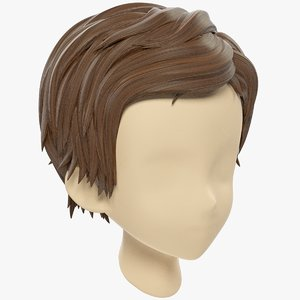 3D stylized hair mannequin model