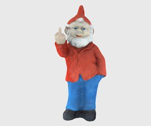 3D rude garden gnome model
