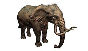 3D mammoth elephant