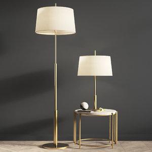 3D diana floor table lamp