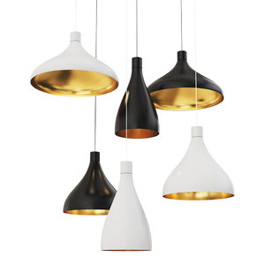3D swell pendant light pablodesigns model