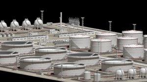 oil storage facility 3D model