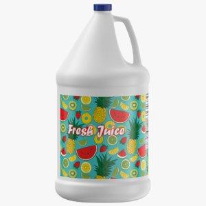 fresh juice gallon jug model