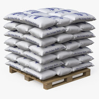 Pallet with Salt Bags