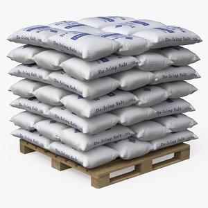 pallet salt bags 3D