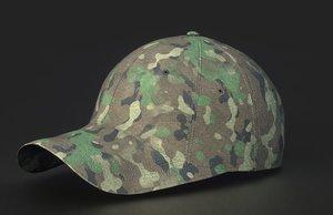 3D baseball cap woodland