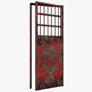 old metal door 3D