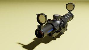 8x scope barska 3D model