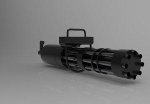 minigun 3D model