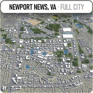 3D newport news surrounding -