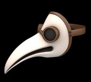 plague doctor mask 3D model