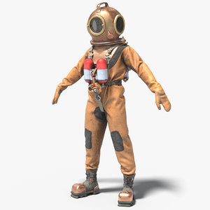 3D diver suit 2 model