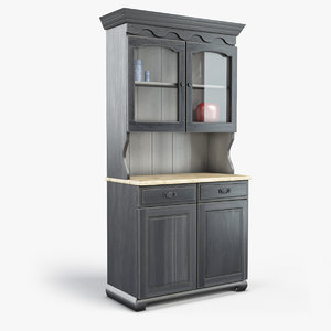 farmhouse hutch 3D model