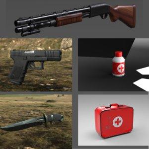 survival kit ready 3D model