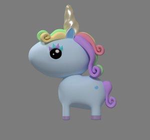 3D unicorn model