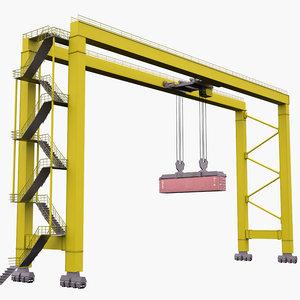 3D rtg crane model
