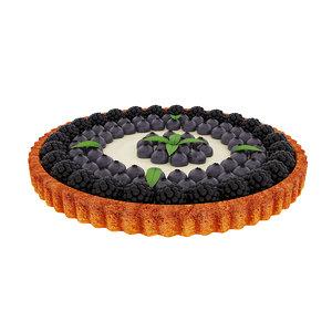 tart blueberry blackberry 3D