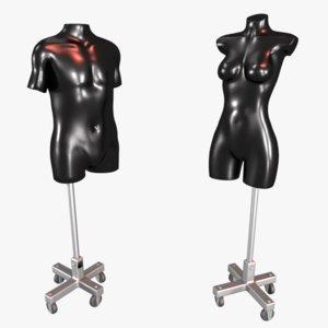 male female manequin 3D model