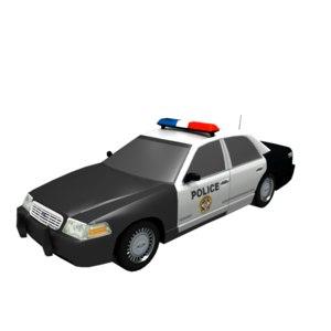 realistic police car model