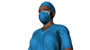 nurse named elsie character animation 3D