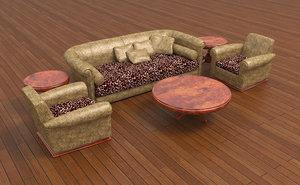 living room set 3D model