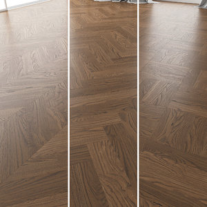 3D parquet oak black walnut