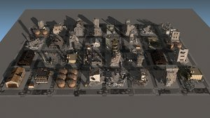 destroy city 2020 building 3D model