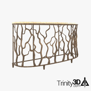 credenza branchy metal 3D model