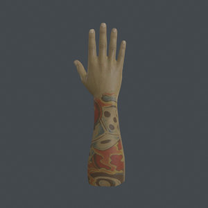 rigged right hand model
