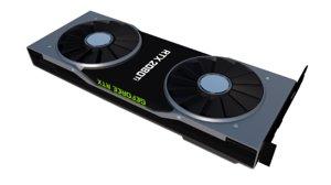 3D model nvidia geforce rtx 2080
