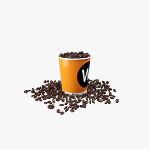 coffee bean v2 cup 3D model