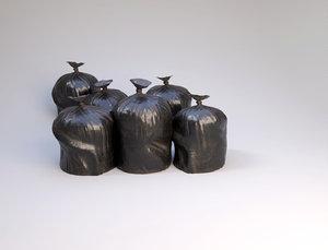 garbage bag 3D